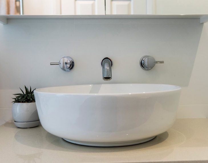 Basin and fixtures