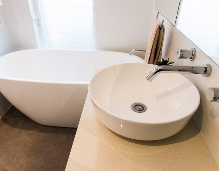 Bath basin taps
