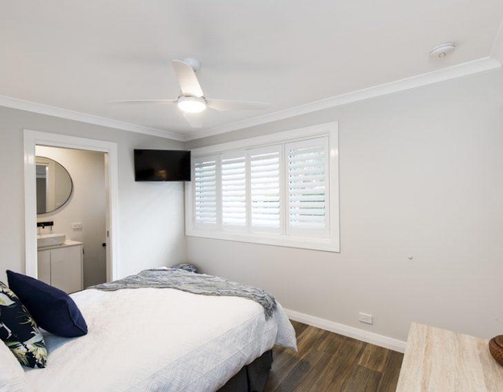 bedroom completely redone