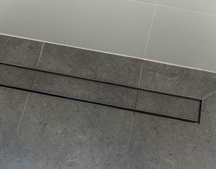 Drain floor tiles