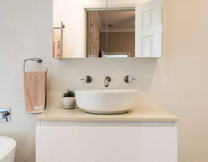 Mirror sink cabinet