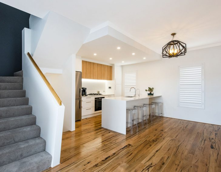 Stairs kitchen area