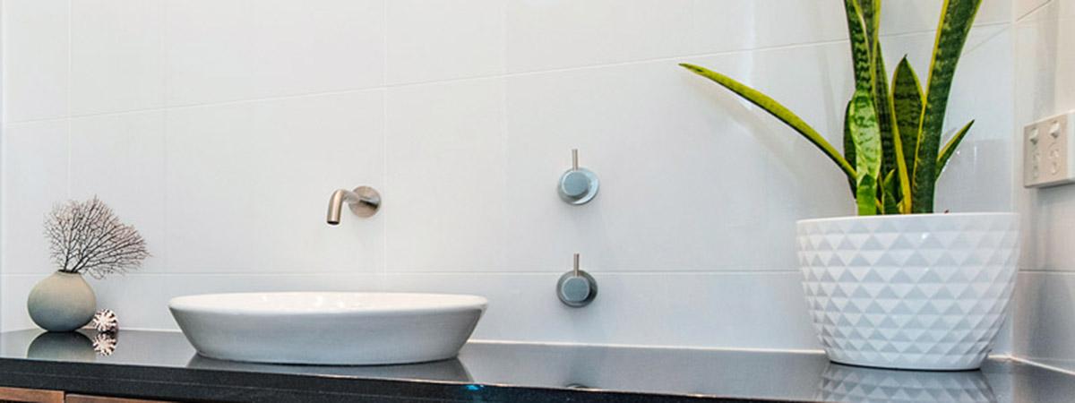 Bathroom sink shot