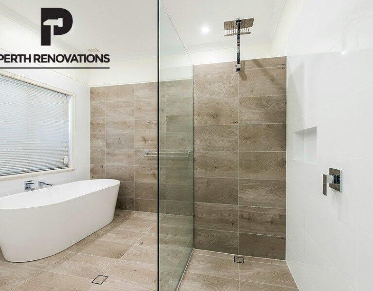 Finished bathroom design