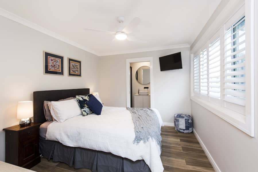 Fully renovated additional room to a house.
