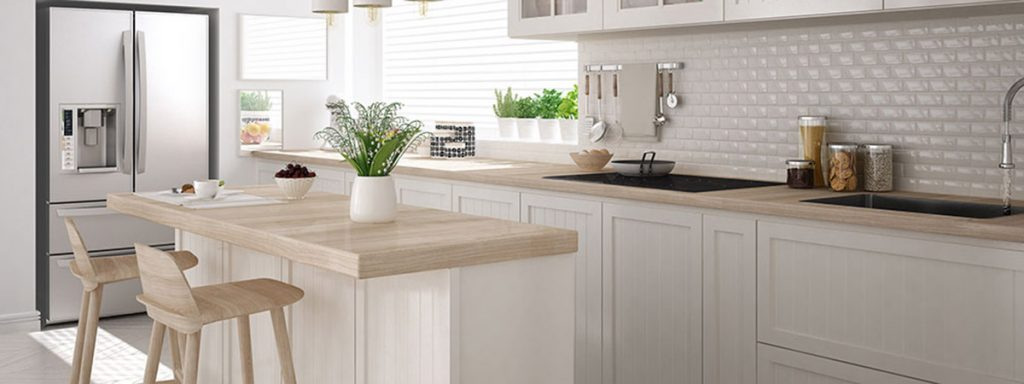 Kitchen with interior design basics