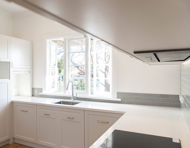 Kitchen areal shot