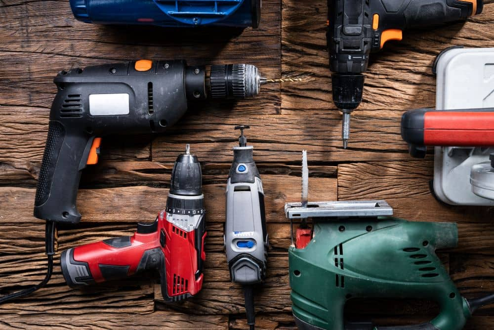Group of power tools,