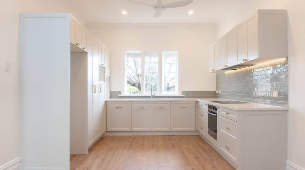 Newly renovated white kitchen.
