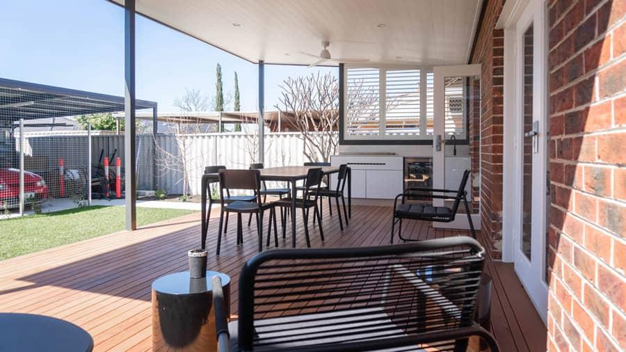Outdoor kitchen finalised