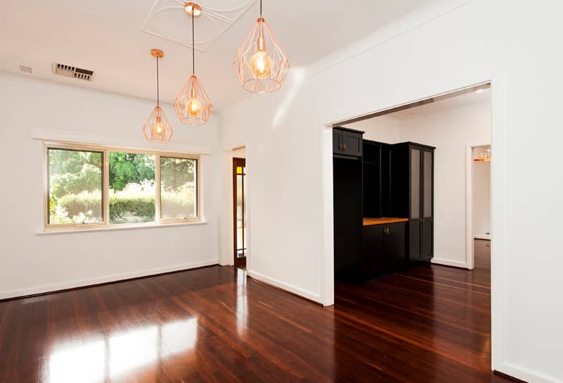 Renovated living room in White Gum Valley.