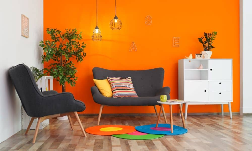 Bright coloured rooms feel bigger and more inviting.