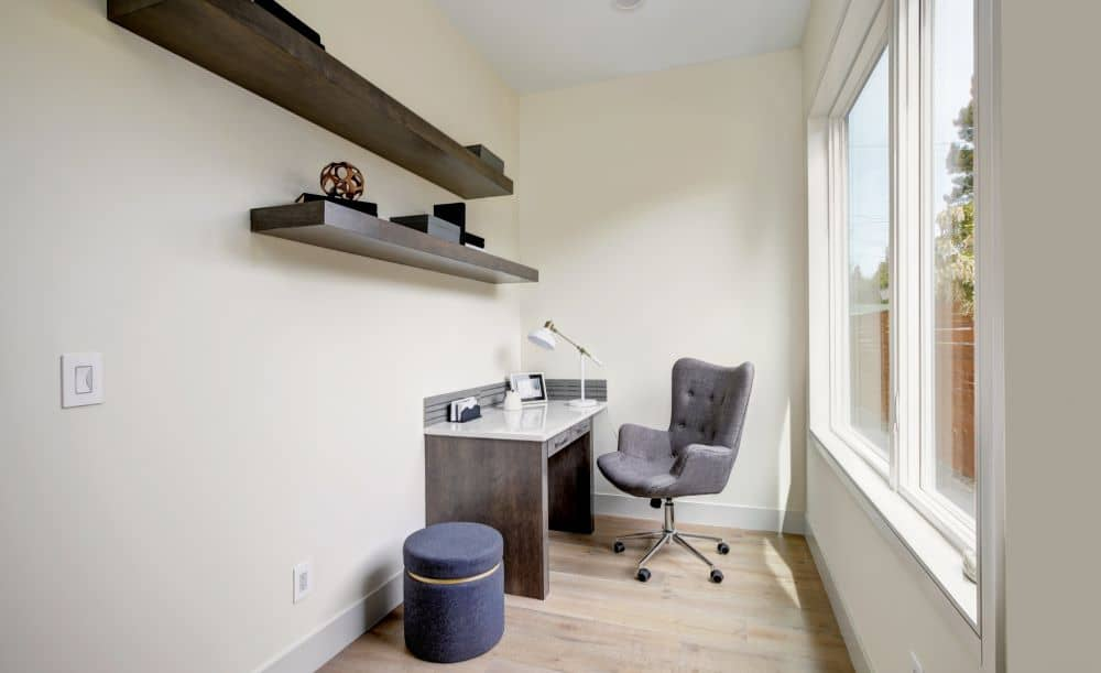 Dedicated spaces are created by remodelling unused corners or rooms.